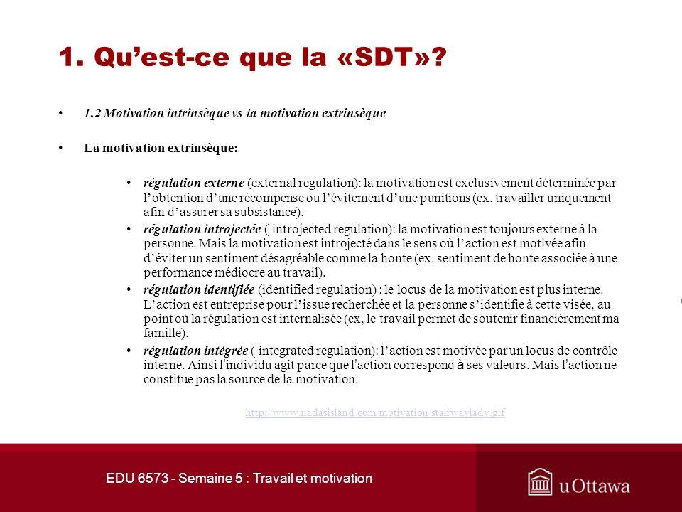 1. Quest-ce que la «SDT»?