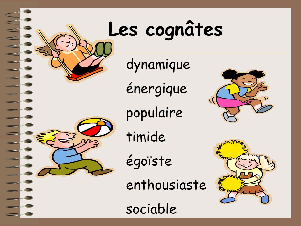 Le verbe être être = to be jesuisnoussommes tuesvousêtes ilils elle estellessont on } } Conjugate = make the verb agree with the subject For example, you say « I am » not « I to be ».