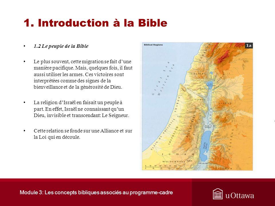 1. Introduction à la Bible 1.2 Le peuple de la Bible Les ancêtres des Israélites sont des Sémites semi-nomades, éleveurs de moutons qui circulaient su