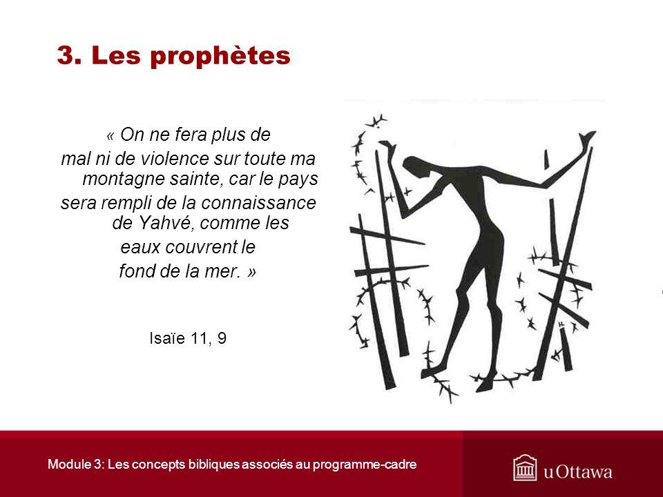 Module 3: Les concepts bibliques associés au programme-cadre 3. Les prophètes 3.3 Isaïe Il dénonce avec courage les crimes, la cupidité, lhypocrisie r