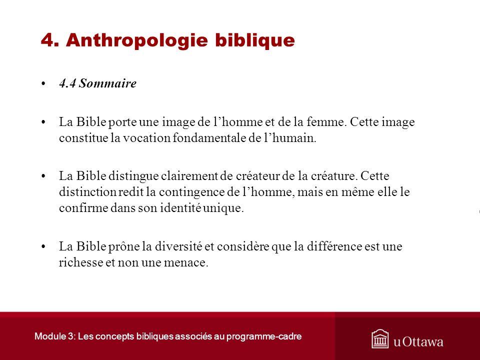Module 3: Les concepts bibliques associés au programme-cadre 4. Anthropologie biblique 4.3 Le monothéisme et laventure de la différence La tentation d
