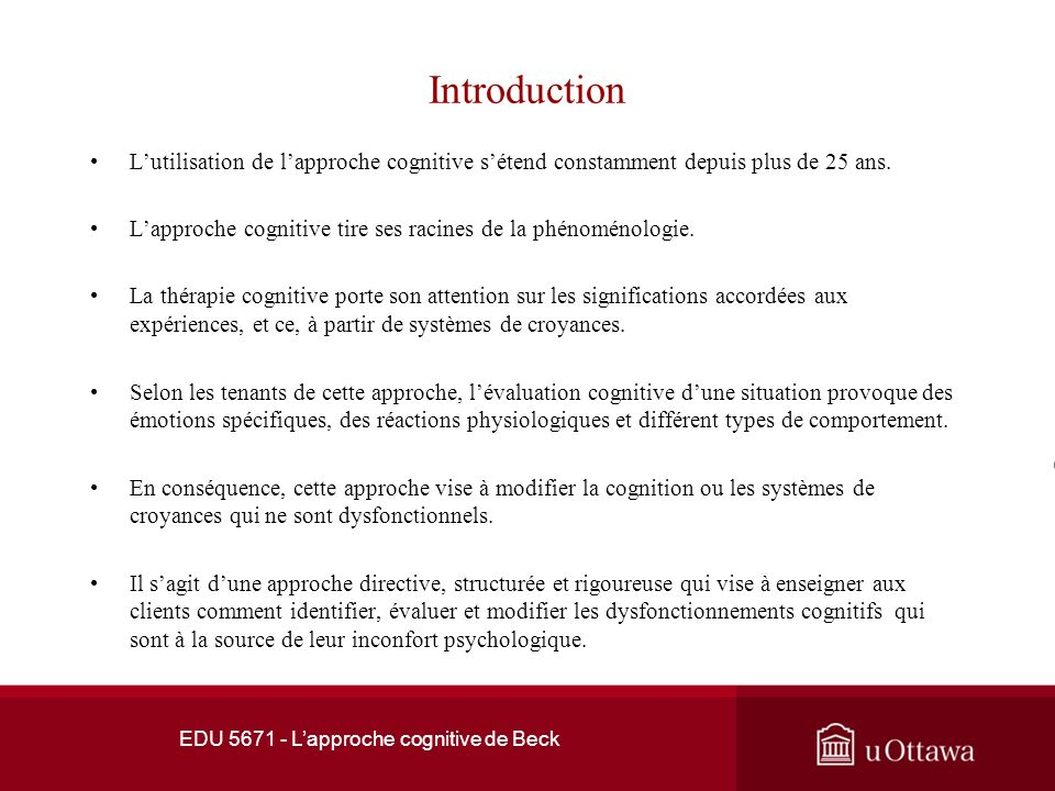 Références Academy of Cognitive Therapy.(2008).Cognitive Behavioral Therapy (CBT) Outcome Studies.