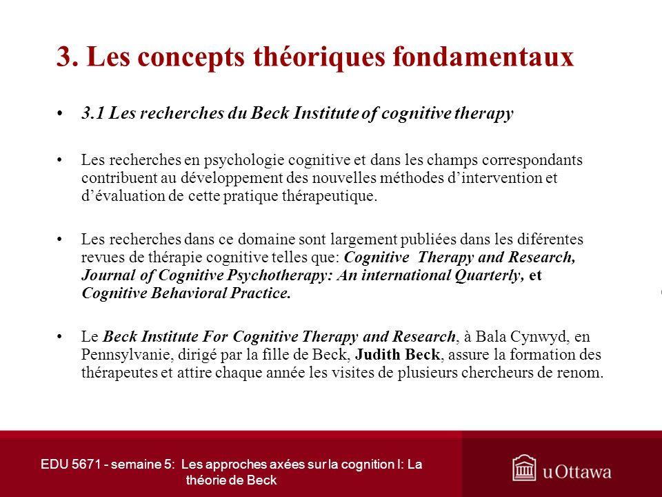 EDU 5671 - semaine 5: Les approches axées sur la cognition I: La théorie de Beck 2. Les influences théoriques (suite) 2.2 Aaron Beck et Albert Ellis (