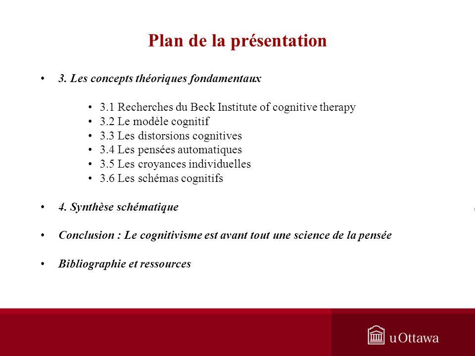 EDU 5671 - semaine 5: Les approches axées sur la cognition I: La théorie de Beck Plan de la présentation Introduction générale 1. Développement de la