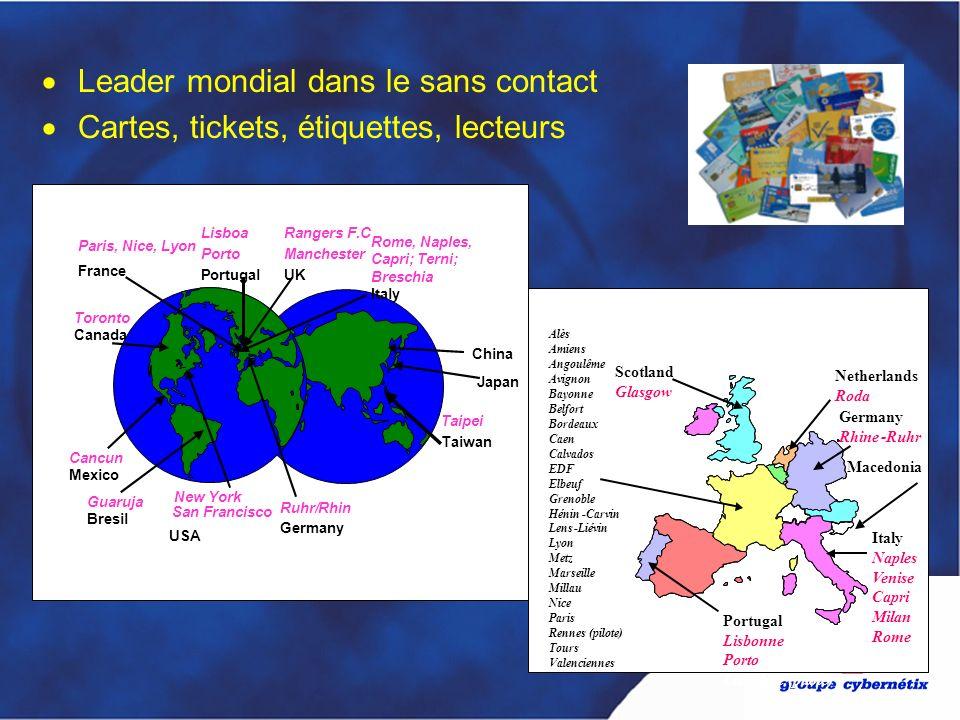 Leader mondial dans le sans contact Cartes, tickets, étiquettes, lecteurs Guaruja Bresil Paris, Nice, Lyon France Taipei Taiwan Lisboa Porto Portugal
