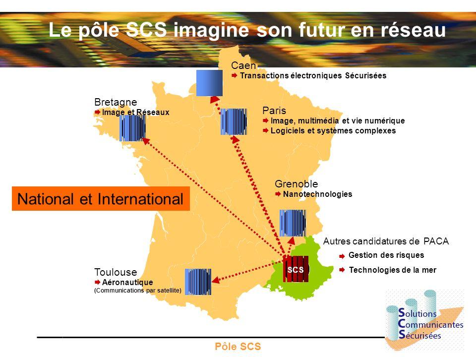 Pôle SCS Bretagne Image et Réseaux Paris Image, multimédia et vie numérique Logiciels et systèmes complexes Toulouse Aéronautique (Communications par