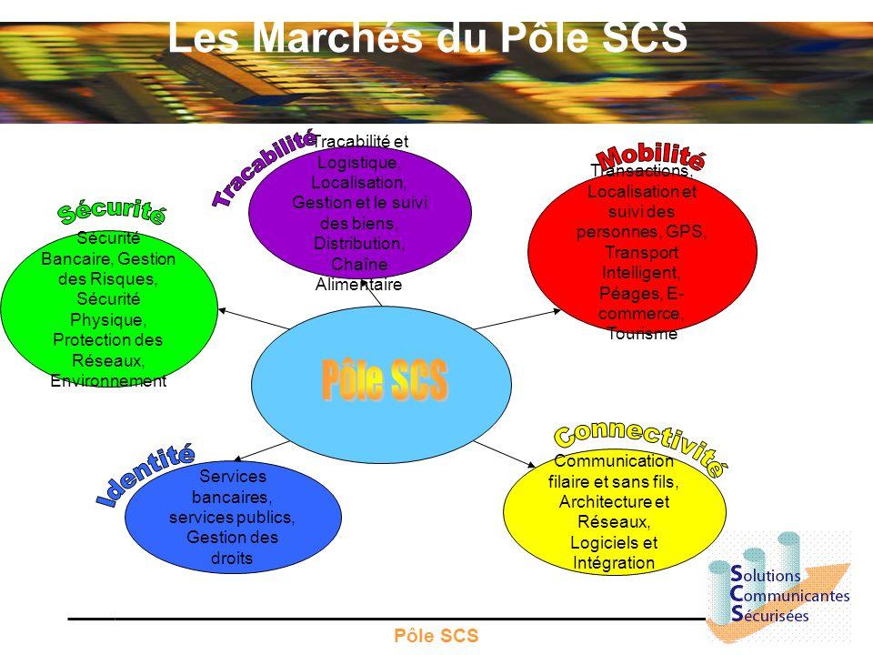 Pôle SCS Les Marchés du Pôle SCS Tracabilité et Logistique, Localisation, Gestion et le suivi des biens, Distribution, Chaîne Alimentaire Services ban