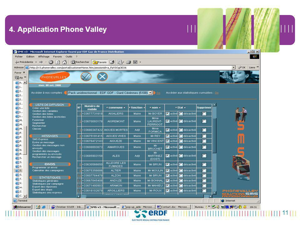 11 4. Application Phone Valley