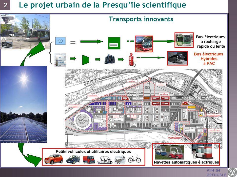Ville de GRENOBLE Le projet urbain de la Presquîle scientifique 2