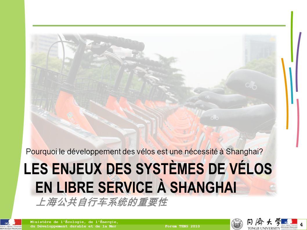 5 Shanghai, une ville chinoise de premier plan Une ville très dense au centre-ville Une politique de développement vers les périphéries Une part de population flottante en constante croissance Un réseau de transport en commun changé au contact de la population flottante Ministère de l Écologie, de l Énergie, du Développement durable et de la Mer Forum THNS 2010