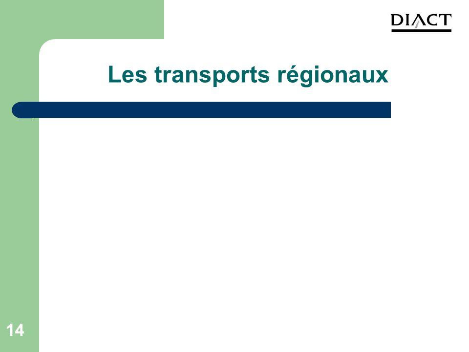 14 Les transports régionaux