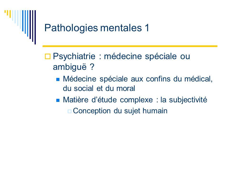 Individu 6 Domaine de la psychiatrie et de la santé mentale Schizophrénie, alcoolisme, dépression, suicide Aspect psychique et maladies psychosomatiques