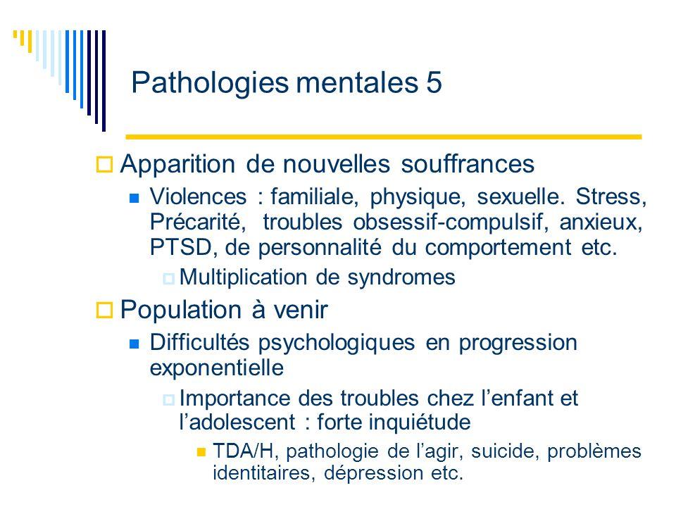 Pathologies mentales 6 Pathologie mentale Réceptacle de multiples souffrances psychiques Souffrance psychique : réalité massive et incontournable Importance de la prise en charge Perspective diachronique