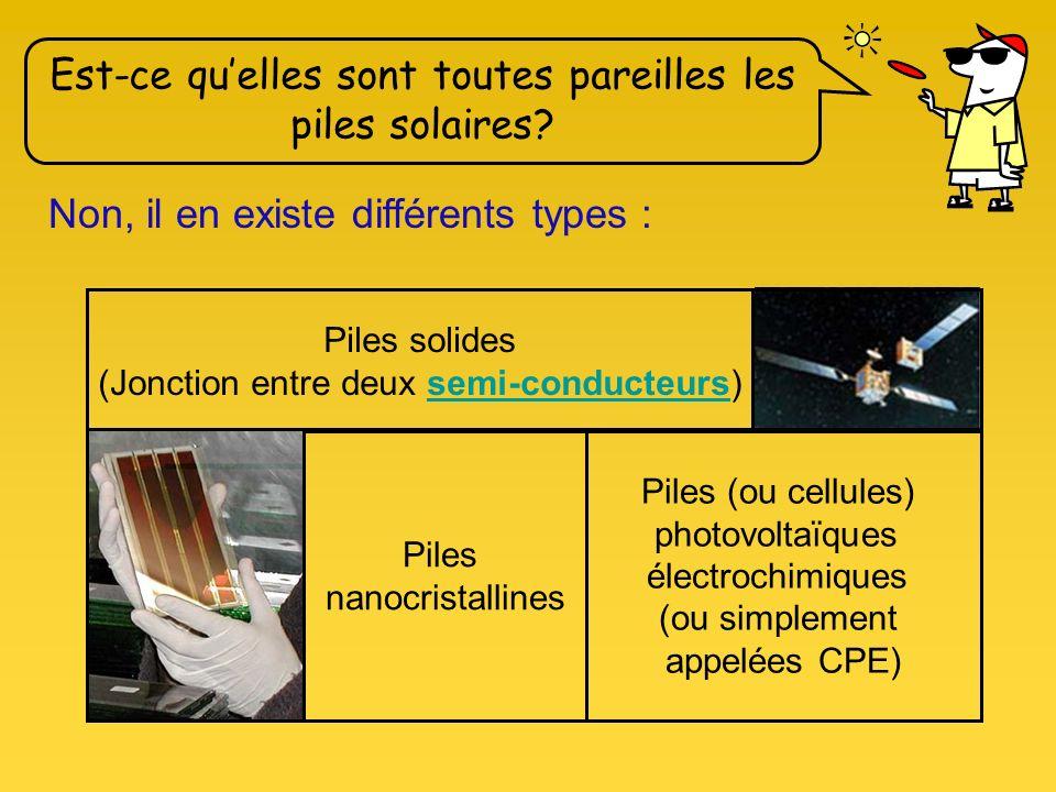 Une pile solaire est un générateur de courant continu qui transforme en électricité l'énergie lumineuse qu'il reçoit. Ça tombe bien quon en parle car