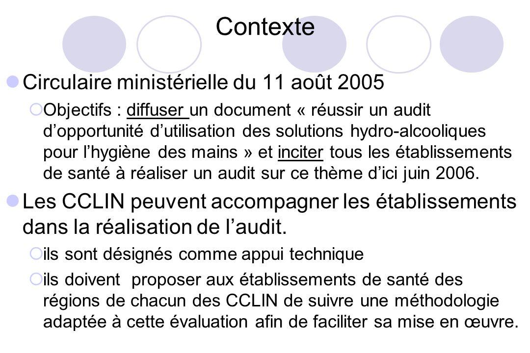 Contexte Circulaire ministérielle du 11 août 2005 Objectifs : diffuser un document « réussir un audit dopportunité dutilisation des solutions hydro-al