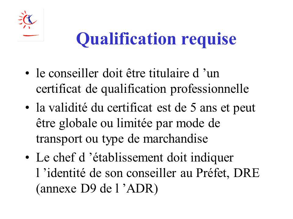Qualification requise le conseiller doit être titulaire d un certificat de qualification professionnelle la validité du certificat est de 5 ans et peu