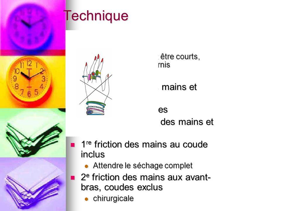 Technique Au préalable : Au préalable : Les ongles doivent être courts, propres et sans vernis Les ongles doivent être courts, propres et sans vernis