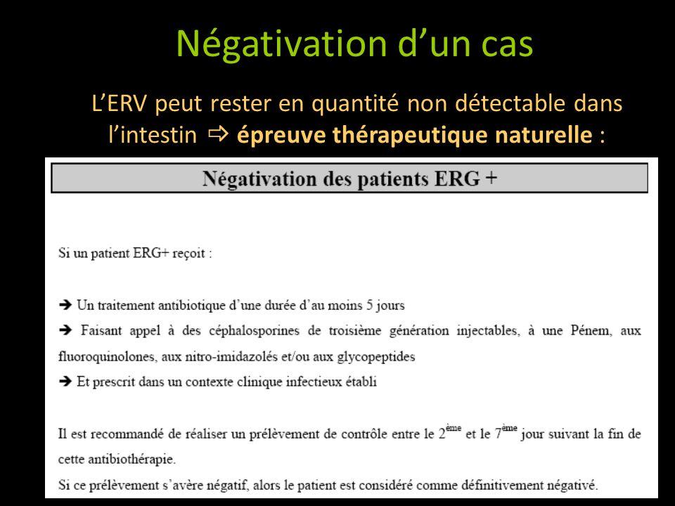 LERV peut rester en quantité non détectable dans lintestin épreuve thérapeutique naturelle : Négativation dun cas