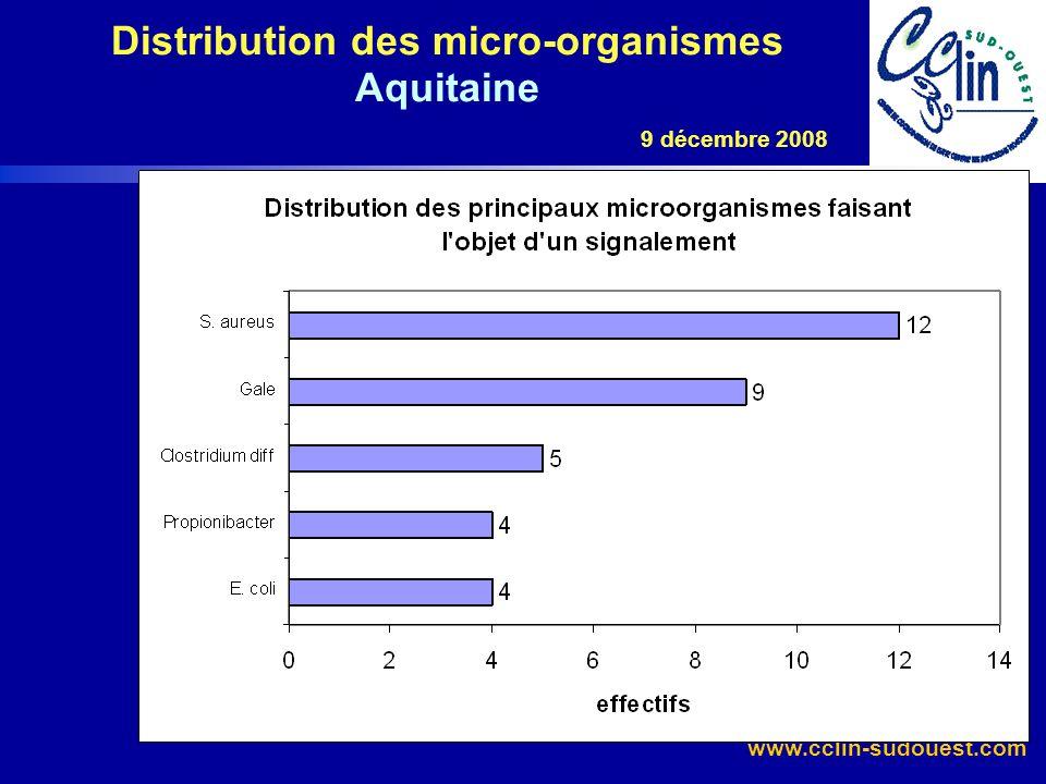 www.cclin-sudouest.com Critère 1a : micro-organisme Entérocoque résistant à la vancomycine : 1 cas E.