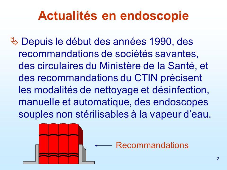 3 1992 : Le traitement des endoscopes : Recommandations de la Société Française d Hygiène Hospitalière.