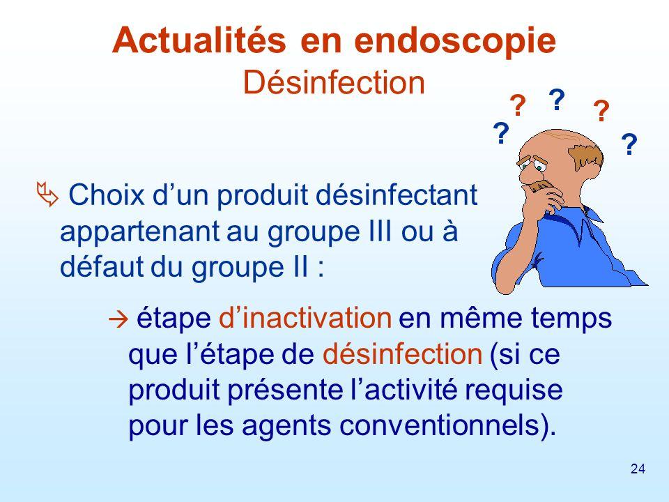 25 La traçabilité des actes dendoscope, du matériel et des procédés de traitement des endoscopes doit être assurée.