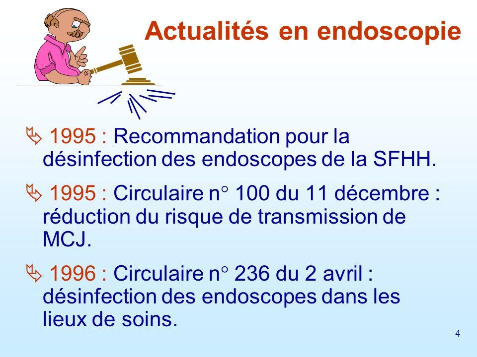 5 1997 : Circulaire n° 672 du 20 octobre : stérilisation et désinfection de haut niveau.