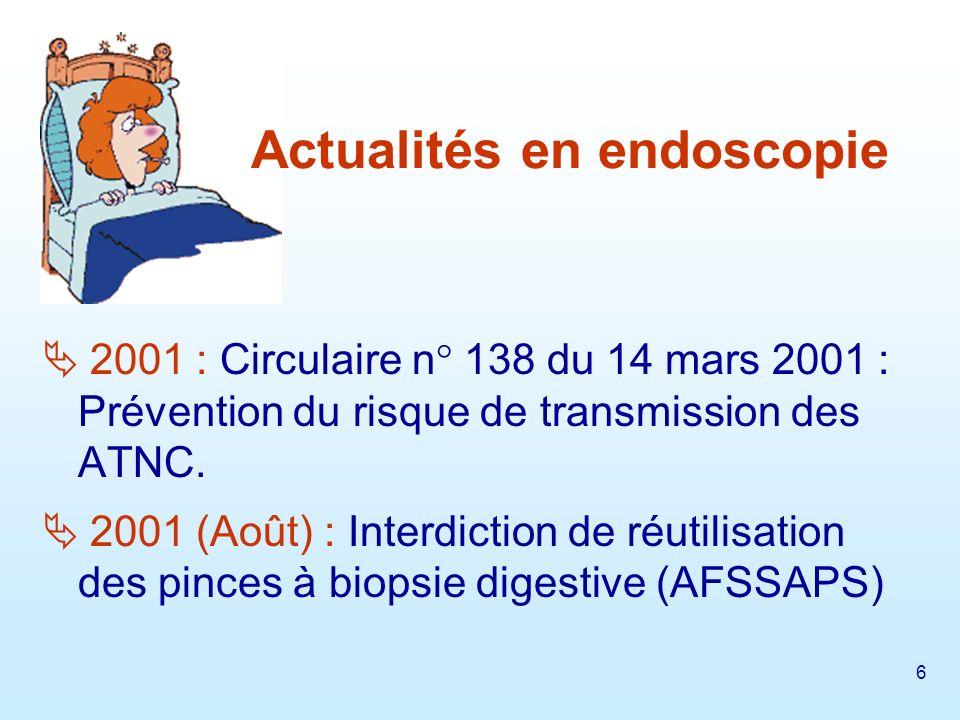 7 2003 (novembre) : Guide pour lutilisation des laveurs - désinfecteurs dendoscopes (CTIN).