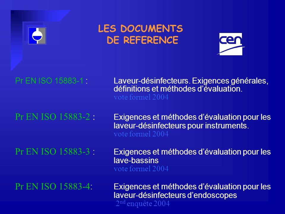 Pr EN ISO 15883-1 : Laveur-désinfecteurs.Exigences générales, définitions et méthodes dévaluation.