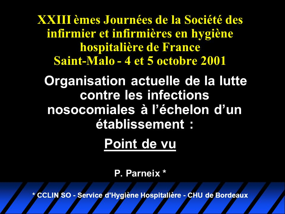 La solitude de linfirmière hygiéniste (Acte V) Organisation LIN IDE HH 1996 - 1999 CTIN CCLIN CLIN DSSI RAQ