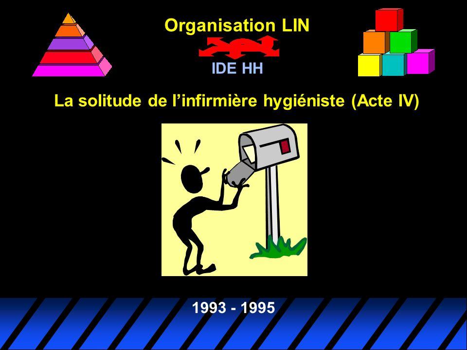 Organisation LIN IDE HH 1993 - 1995 La solitude de linfirmière hygiéniste (Acte IV)