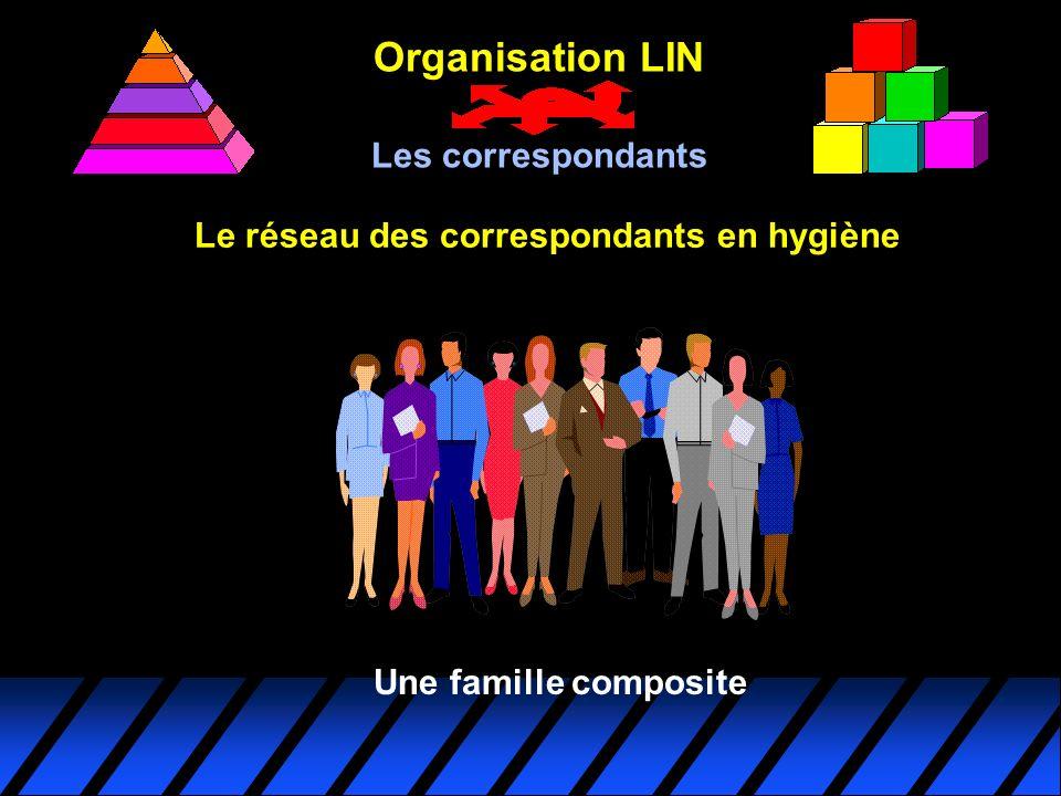 Le réseau des correspondants en hygiène Organisation LIN Les correspondants Une famille composite
