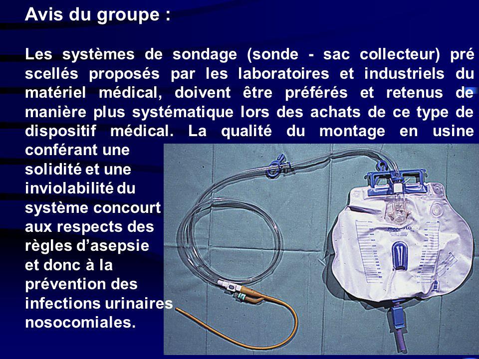 www.cclin-sudouest.com Avis du groupe : Les systèmes de sondage (sonde - sac collecteur) pré scellés proposés par les laboratoires et industriels du m