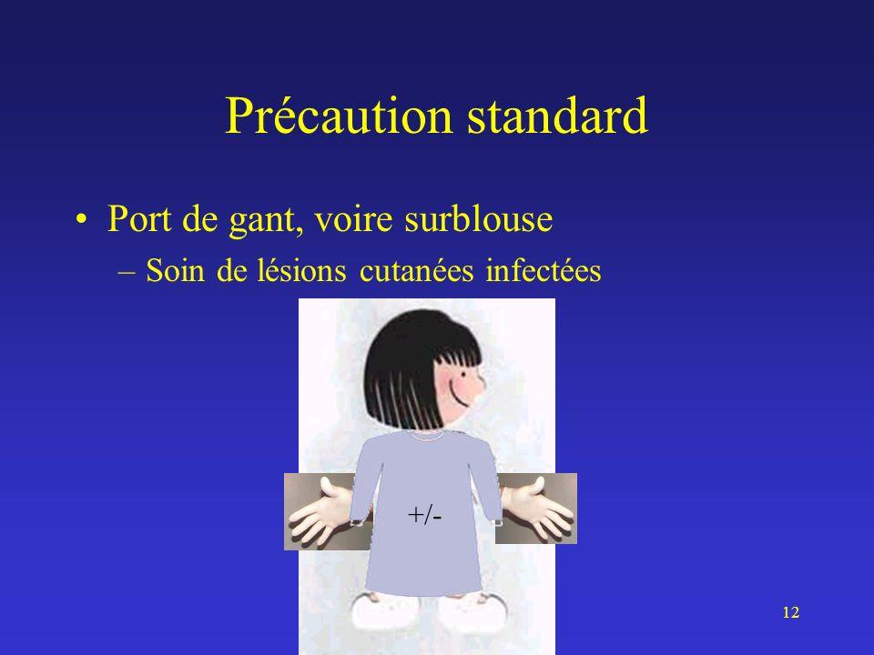 Isolement13 Isolement respiratoire Protection –Du patient : simple –Du soignant : simple, « renforcée », « extrême » FFP1 FFP2 / FFP3