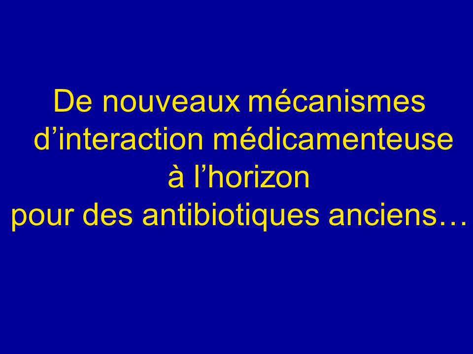 De nouveaux mécanismes dinteraction médicamenteuse à lhorizon pour des antibiotiques anciens…