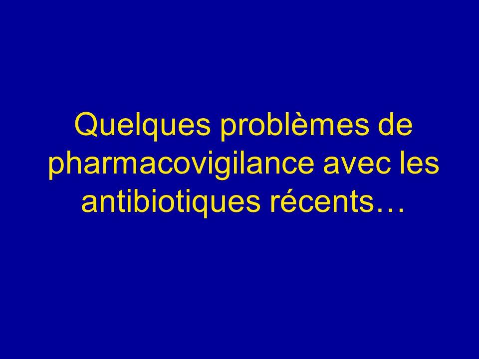 Quelques problèmes de pharmacovigilance avec les antibiotiques récents…