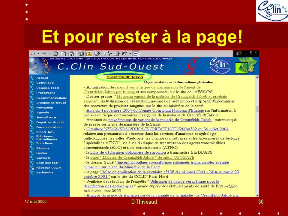 17 mai 2005 D Thiveaud30 Et pour rester à la page!