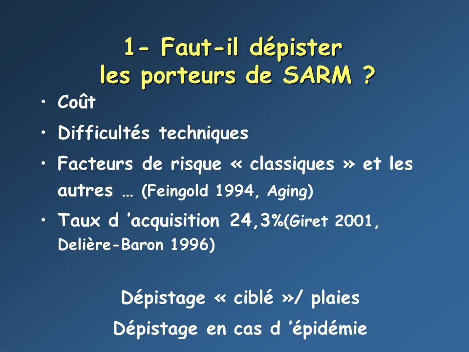 4- Comment éradiquer le SARM .Antiseptique ou savon simple ?.
