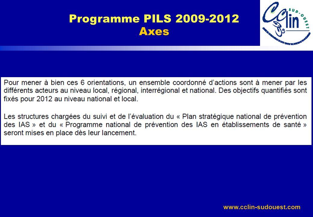 www.cclin-sudouest.com Programme PILS 2009-2012 Objectifs nationaux