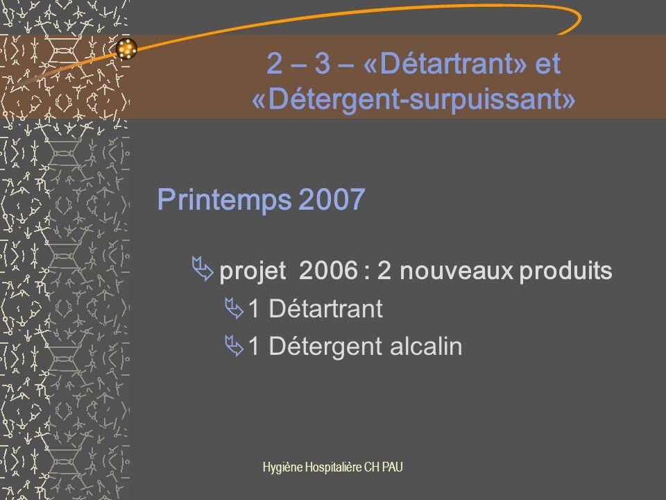 Hygiène Hospitalière CH PAU Actions correctrices