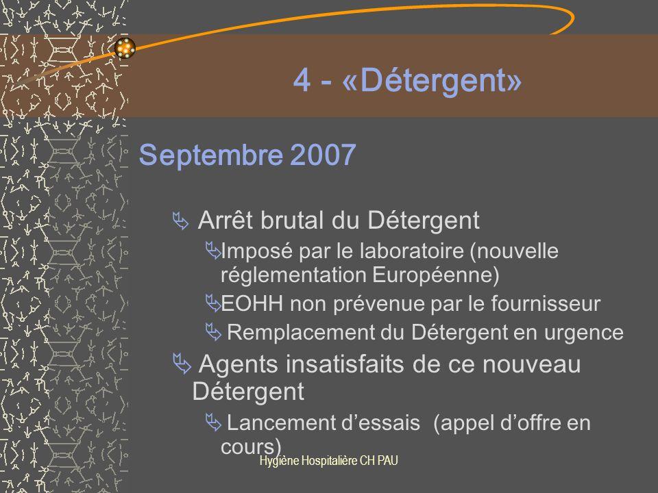 Hygiène Hospitalière CH PAU 1er Janvier 2008