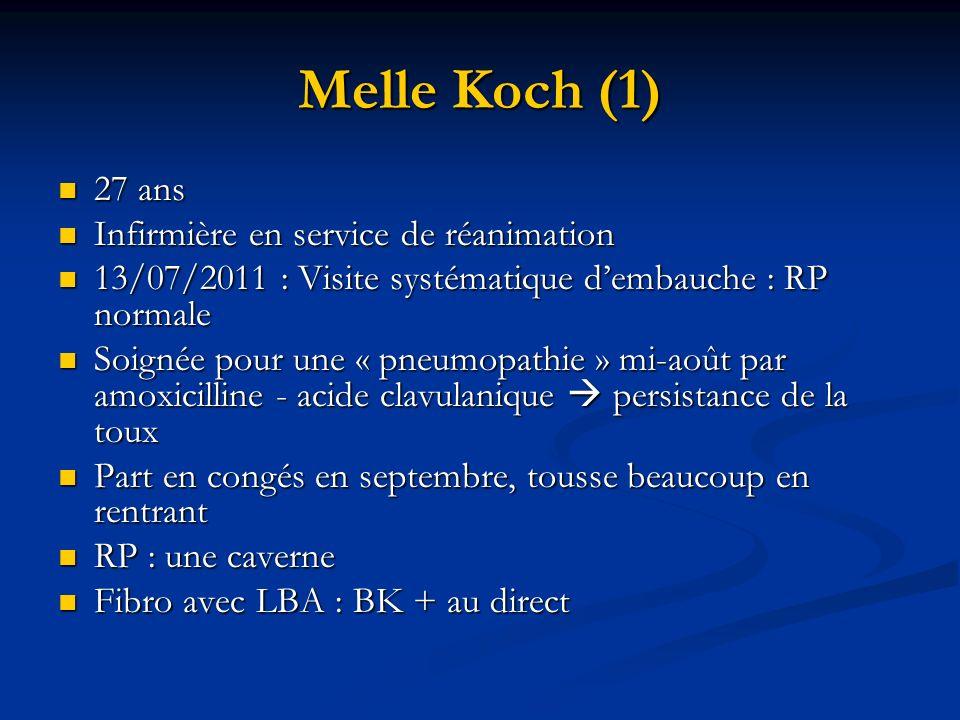 Melle Koch (1) 27 ans 27 ans Infirmière en service de réanimation Infirmière en service de réanimation 13/07/2011 : Visite systématique dembauche : RP