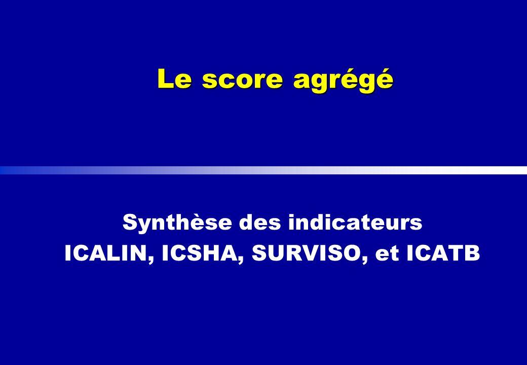 Le score agrégé Synthèse des indicateurs ICALIN, ICSHA, SURVISO, et ICATB