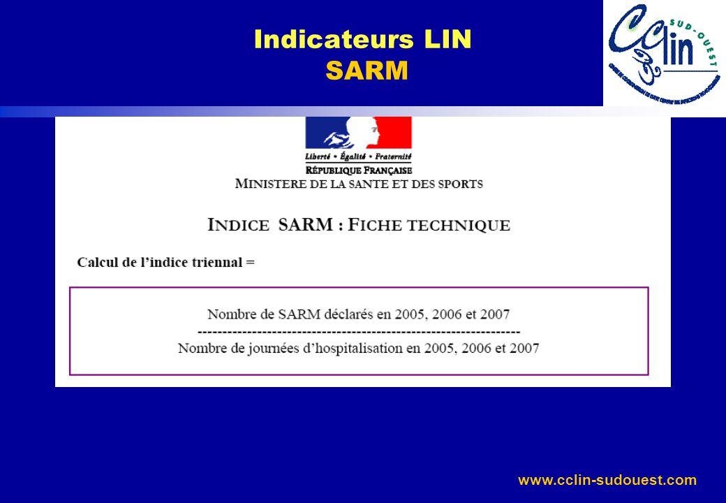 www.cclin-sudouest.com Indicateurs LIN SARM