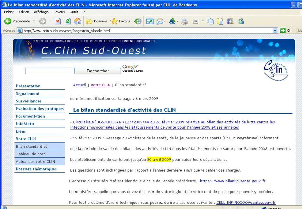 www.cclin-sudouest.com Tableau de bord 2008 (Données 2007)