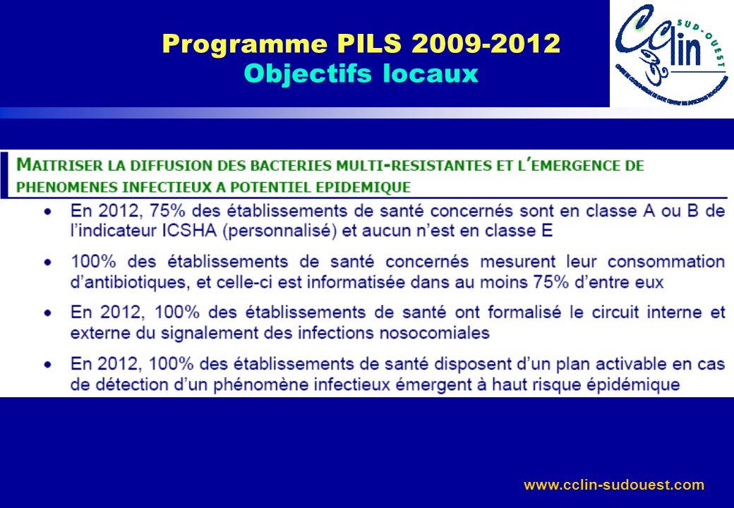 www.cclin-sudouest.com Programme PILS 2009-2012 Objectifs locaux