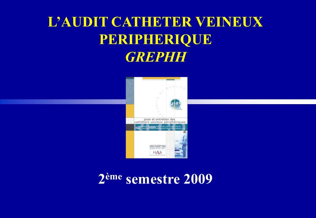 LAUDIT CATHETER VEINEUX PERIPHERIQUE GREPHH 2 ème semestre 2009