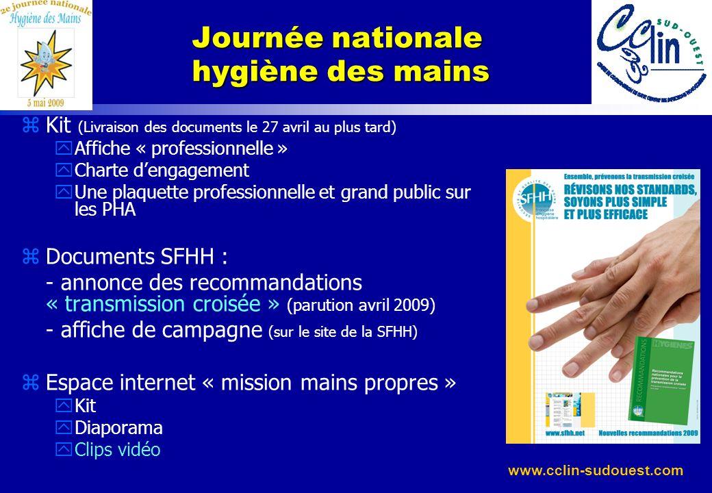 www.cclin-sudouest.com zKit (Livraison des documents le 27 avril au plus tard) yAffiche « professionnelle » yCharte dengagement yUne plaquette profess