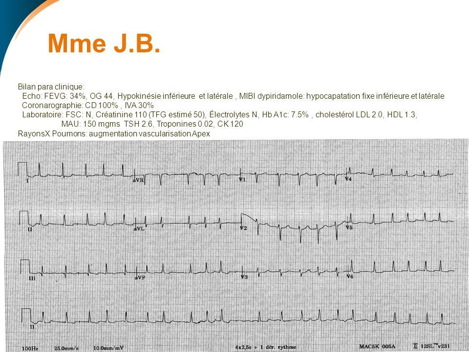 Approche recommandée: 1)Contrôle Rythme: Cardioversion : Méd.
