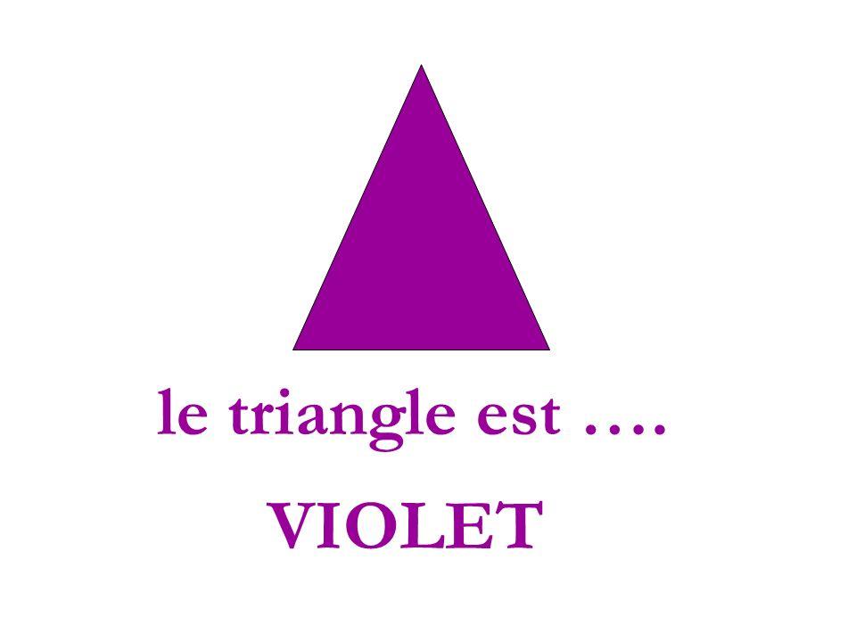 le triangle est …. VIOLET