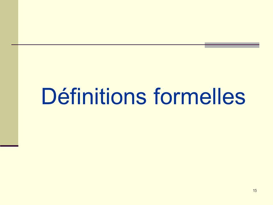 15 Définitions formelles